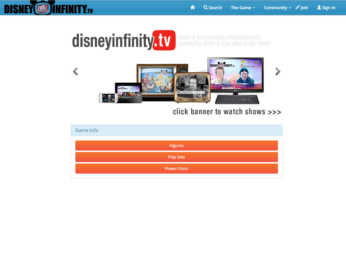 Disney Infinity TV Thumbnail